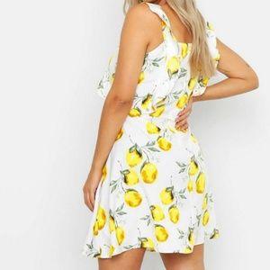 Dresses - Lemon and white dress